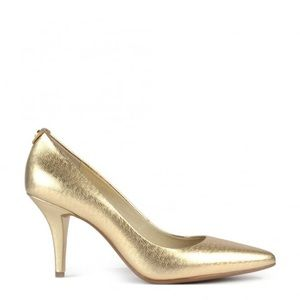 Michael Kors gold high heel pumps